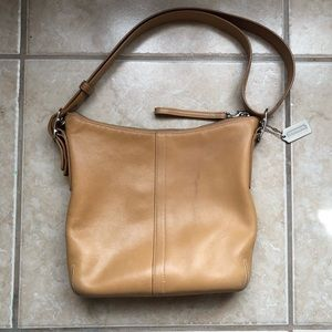 Authentic Coach Camel Hobo Handbag